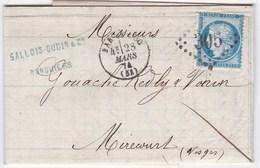 F 206 - De Bar Le Duc (Meuse) - YT N°60 Losange GC - Poststempel (Briefe)