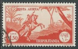1931-32 TRIPOLITANIA POSTA AEREA USATO SOGGETTI AFRICANI 1,50 LIRE - I47-6 - Tripolitania