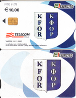 ITALY(chip) - EL Esercito, KFOR, Telecom Italia Satellite Card, CN : 0092, Exp.date 31/12/05, Used - Army