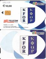ITALY(chip) - EL Esercito, KFOR, Telecom Italia Satellite Card, CN : 0092, Exp.date 31/12/05, Used - Télécartes