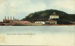 China, MACAO MACAU 澳門, Green Island Cement Factories (1907) Postcard - China