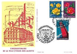 30.5.1956  -  CINQUANTENAIRE DE LA VILLE D'ESCH-SUR-ALZETTE - Cartes Maximum