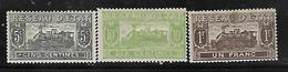 Fg187  France Colis Postaux N°9-10-13 N+ - Spoorwegzegels