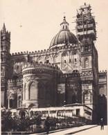 PALERMO PALERME SICILIA Travaux à La Cathédrale 1926 Photo Amateur Format 7,5 Cm X 5,5 Cm - Luoghi