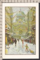 98066GF/ NOEL, Père Noël, Scène De Rue, * La Ville En Fête*, Illustrateur Chen Long Liu, APBP - Santa Claus