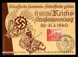 13991-GERMAN EMPIRE-MILITARY PROPAGANDA POSTCARD WHW Hannover.1940.WWII.DEUTSCHES REICH.POSTKARTE.carte Postale - War 1939-45