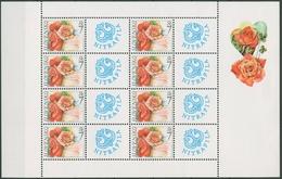 Slowakei 2003 Grußmarke Blumen Rosen Kleinbogen 446 K Postfrisch (C90856) - Blocks & Kleinbögen