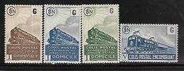 Fg192  France Colis Postaux N°221B-222B-223B-224 N+ - Spoorwegzegels