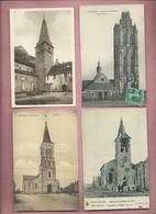 192  Cartes D ' églises  , église - Churches & Cathedrals