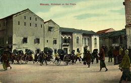 China, MACAO MACAU 澳門, Rickshaw On The Praya (1910s) Postcard - China