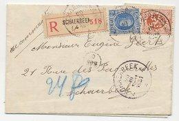 Registered Folded Letter Schaerbeek Belgium 1931 - 1922-1927 Houyoux