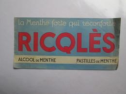 Toque Publicitaire  ( Ricqlés ) - Magazines