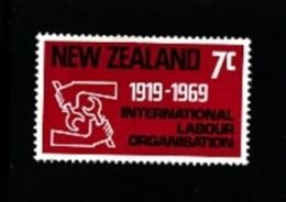 NEW ZEALAND - 1969  I.L.O.  MINT NH - Nuova Zelanda