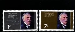 NEW ZEALAND - 1971  LORD RUTHERFORD  SET  MINT NH - Nuova Zelanda