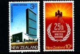 NEW ZEALAND - 1970  UNITED NATIONS  SET  MINT NH - Nuova Zelanda