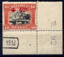 BELGIQUE - 158* - CROIX ROUGE / PONT DE DINANT - 1918 Rotes Kreuz