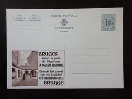 ENTIER CP .PUBLIBEL 1649 BRUGGES LA MAISON BEGUINALE    . NEUF - Publibels