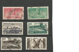 Liban PA Oblitérés  49/50/65/80/81/89 - Libanon