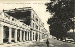 China, MACAO MACAU 澳門, Praya Grande, Post Office, Macao Hotel (1910s) Postcard - China