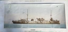 FOUDRE CROISEUR ÉCOLE D'AVIATION GUERRE 1914 - 1918 - Schiffe