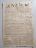1878 LE PETIT JOURNAL - L'ÉTAT ET L'ÉGLISE - LE NOUVEAU PAPE - LE MYSTÈRE DU VESINET - Vieux Papiers