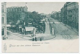 Picture Postcard Hannover Germany - Georgstrasse Mit Theaterplatz - Hannover