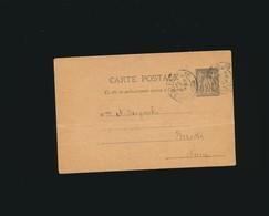 Entier Postal Type Sage-1892-oblitération Paris Rue D'Amsterdam- Norvège écrite En Norvégien - Entiers Postaux