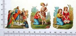3 CHROMOS DECOUPIS ...SUJETS RELIGIEUX  DIVERS - Découpis