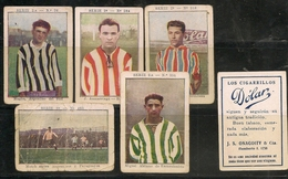 FOOTBALL - SOCCER  - 1925 Lot Of 5 Rare!! CIGARRILLOS DOLAR CARDS From ARGENTINA - Cigarette Cards