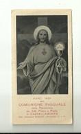 """4228""""ANNO 1929-COMUNIONE PASQUALE-PARROCCHIA S.S. PIETRO E PAOLO IN CASTELLAMONTE""""  ORIG. - Santini"""