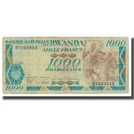 Billet, Rwanda, 1000 Francs, 1988, 1988-01-01, KM:21a, TTB - Rwanda