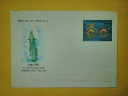1990 ITALIA BIGLIETTO POSTALE NUOVO MNH** CENTENARIO SOMMERGIBILI - 6. 1946-.. Repubblica