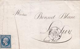 107 - NAPOLEON 14  - PARIS  A  LE PUY - Postmark Collection (Covers)