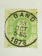 COB N ° 30  Oblitération Gand 1873 - 1869-1883 Léopold II