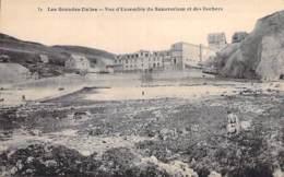 76 - LES GRANDES DALLES : Vue D'ensemble Du Sanatorium Et Des Rochers - CPA Village - Seine Maritime - France