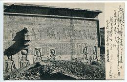 EGYPTE * CPA 1916 - DENDERAH Extérieur Du Temple ( Façade ) Très Bon état - Egypte