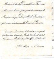 Mariage 1913 Douville De Franssu Jacques é Gisèle De Gantès Abbeville Watel Eglise Saint-Wulfran Abbeville - Mariage