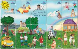 BRAZIL(Telemar) - Dia Das Criancas, Puzzle Of 10 Cards, 09/00, Used - Puzzles