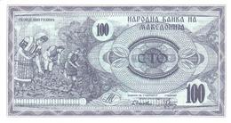 MACEDONIA 100 ДЕНАРИ (DENARI) 1992 P-4a UNC  [MK104a] - Macédoine