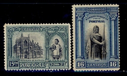 ! ! Portugal - 1926 1st Independence 15 & 16 C - Af. 366 & 367 - MH - 1910 - ... Repubblica