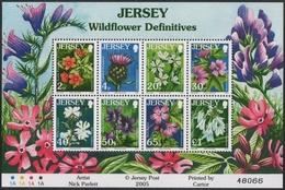 Jersey 2005 - Mi-Nr. 1187-1194 ** - MNH - KLB - Blumen / Flowers - Jersey