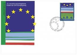 Poland Pologne 2019, 15th Anniversary Of Poland's Accession To The European Union. FDC - European Community