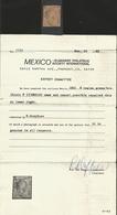J) 1861 MEJ) 1861 MEXICO, HIDALGO, 8 REALES, GREEN, MEXICO DISTRICT, DOUBLE CIRCULAR CANCELLATION, WITH MEPSI CERTIFICAT - Mexico