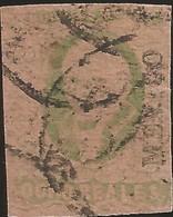 J) 1861 MEXICO, HIDALGO, 8 REALES GREEN, DISTRICT MEXICO, MULTIPLE CANCELLATION, MN - Mexico