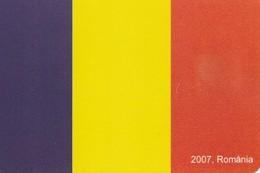 TARJETA TELEFONICA DE RUMANIA, (CHIP). EU - 2007 FLAG ROMANIA . ROM-0375. (008) - Romania