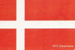 TARJETA TELEFONICA DE RUMANIA, (CHIP). EU - 1973 FLAG DENMARK . ROM-0377. (007) - Romania