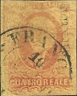 J) 1861 MEXICO, HIDALGO, 4 REALES RED, MEXICO DISTRICT, CIRCULAR CANCELLATION, MN - Mexico