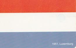 TARJETA TELEFONICA DE RUMANIA, (CHIP). EU - 1951 FLAG LUXEMBOURG. ROM-0379. (005) - Rumania