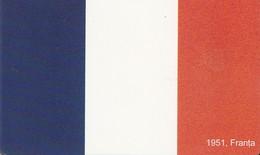 TARJETA TELEFONICA DE RUMANIA, (CHIP). EU - 1951 FLAG FRANCIA. ROM-0378B. (006) - Rumania