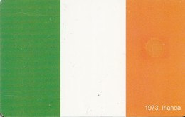 TARJETA TELEFONICA DE RUMANIA, (CHIP). EU - 1973 FLAG IRLANDA. ROM-0383. (010) - Romania